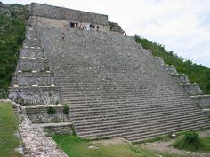 The Great Pyramid at the Mayan ruins of Uxmal, Mexico.