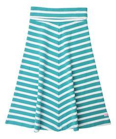 This Teal Stripe Maxi Skirt - Toddler & Girls is perfect! #zulilyfinds