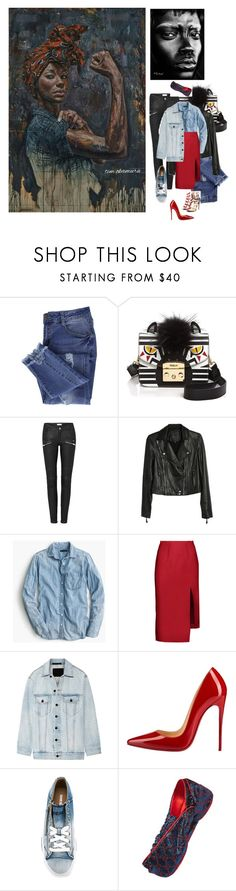 """""""Look of the day: From Art to Style"""" by beautymanifesting ❤ liked on Polyvore featuring Essie, Furla, Paige Denim, J.Crew, Acne Studios, Alexander Wang, Christian Louboutin, Diesel and Gucci"""