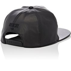 Givenchy Men's Leather Baseball Cap ($595) ❤ liked on Polyvore featuring men's fashion, men's accessories, men's hats, mens ball caps, mens 5 panel hat, mens hats and mens leather hats
