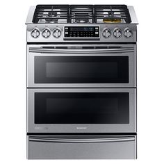 This one looks cool--you can use one or both parts of the oven, or both at once. Also, I recommend looking into dual fuel ranges. I know you said you prefer gas, but an electric oven with convection is a great choice. NY58J9850WS Dual Fuel Range with Flex Duo and Dual Door