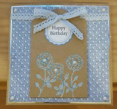 Chambray  & Lace by Craftwork Cards. Made by Jane Compton
