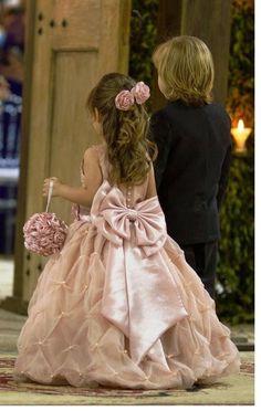 Linda Flor para Daminhas! Flor Rosa para Penteados -