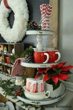 Coco bar on a cupcake stand :)