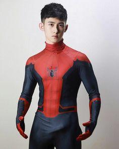 Spiderman Costume, Spiderman Movie, Sexy Military Men, Beauty Of Boys, Lycra Men, White Underwear, Male Cosplay, Men In Uniform, Japanese Men