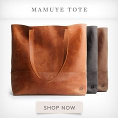 Mamuye Tote, hand-crafted in Ethiopia from distressed leather. Includes detachable leather pouch, with snap closure.   FASHIONABLE
