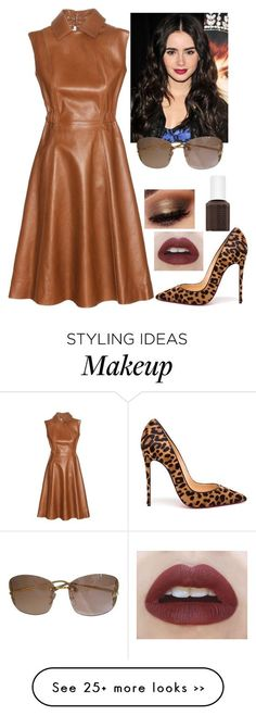 """""""Interviewing Lilly"""" by baeisme on Polyvore featuring Beauty Secrets, Acne Studios, Christian Louboutin, Essie and Louis Vuitton"""