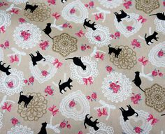 Your place to buy and sell all things handmade Cat Fabric, Japanese Fabric, Cotton Lights, Printing On Fabric, I Shop, Fabrics, Quilts, Blanket, Cats