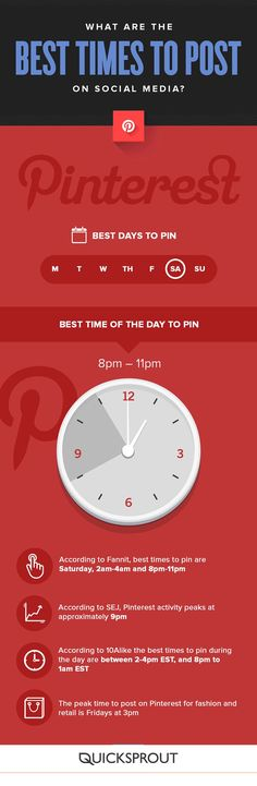 Wondering the best time to pin on Pinterest? Pin this infographic, and check the blog for more tips!