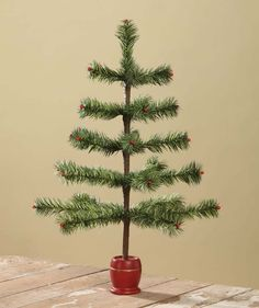 Dark Green Tiger Feather Tree from The Holiday Barn