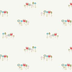 Wildflowers in Cream, Storyboek Collection by Birch Organic Fabric