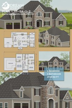 Dream House Plans: Find the best new house plans of all styles - Southern Home Plan, Colonial Open House Floor Plans with porches. Southern Living House Plans, Family House Plans, New House Plans, Dream House Plans, House Floor Plans, Custom Home Plans, Custom Homes, Architectural House Plans, Unique Architecture
