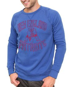 Take a look at this Blue New England Patriots Sweatshirt - Men by Junk Food on #zulily today!