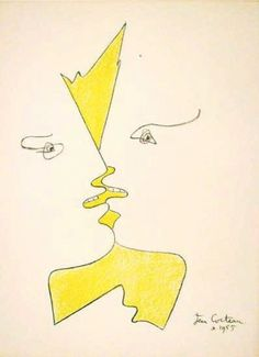 View Eyes, nose, mouth - beautiful line drawings collected by Jennifer Bayne Couple Jaune Jean Cocteau