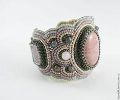 """Купить Браслет """"Элегантный"""" - браслет, Браслет ручной работы, браслет с камнями, браслет вышитый бисером"""