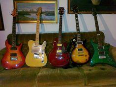 Guitars all around...