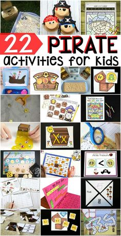What better way to usher in Summer then with pirates? This roundup have CVC games, counting activities, spelling activities, sensory projects and more =- all pirate themed!