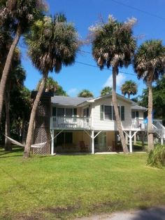 Edisto Beach Vacation Rental - VRBO 458933 - 5 BR Edisto Island Cottage in SC, 140 Steps to the Beach 70 Steps to Pond/ Park 2 Homes in 1! Deal!!