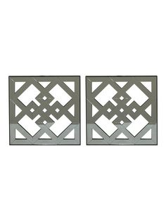 Mirrored Wall Arts (Set of 2) by Three Hands at Gilt