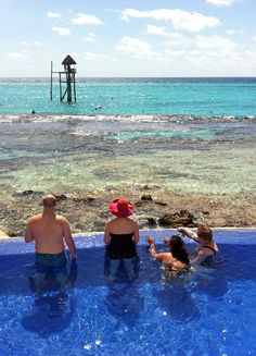 Infinity pool with a view at Garrafon Park, Isla Mujeres, Mexico