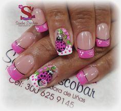 439 Me gusta, 1 comentarios - Sandra Escobar. (@sandraescobar78) en Instagram Crazy Nails, Fancy Nails, Pretty Nails, Ladybug Nails, Nail Picking, Nail Jewelry, Christmas Nail Art Designs, Flower Nail Art, Colorful Nail Designs