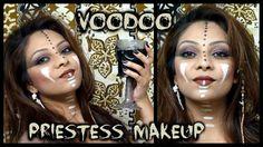Voodoo Priestess Halloween Makeup Tutorial │ EASY Last Minute Halloween Ideas │ Warrior Princess DIY makeup Ideas
