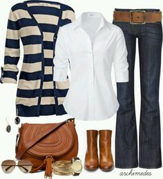 Megs closet:  pink stripped cardi, white tee or button up, jeans, sandals or combats