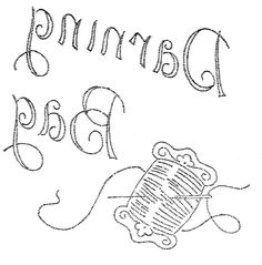 Embroidery Pattern for Darning Bag serial # 1596 8 | by love to sew via Flickr. jwt