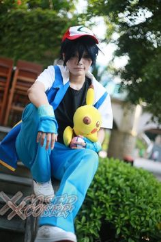 Pokemon Ash Ketchum, Cosplay Costumes, Royal Blue