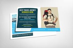 Travel Agency Postcard Template - Cards