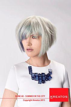 Kreatos kapsels voor vrouwen 2015 -Summer In The City - haar kort grijs met blauw lowlight