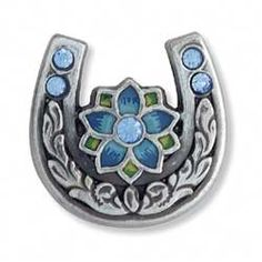 Tandy Leather Factory - Horseshoe Concho w/ Blue Crystal