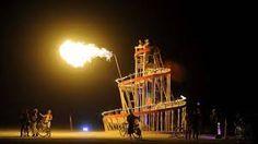 burning man festival nevada 2013 on fire sculptures - Recherche Google