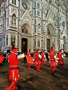 Parading in front of Florence's Il Duomo