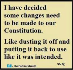 Change is needed to the Constitution