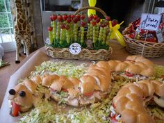 snake sandwiches for jungle party (and look at the cute grapes in the background!)