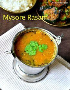 Mysore rasam recipe with freshly ground rasam powder - South Indian arachuvitta rasam Sambhar Recipe, Dhal Recipe, Rasam Recipe, Lunch Recipes, Gourmet Recipes, Vegetarian Recipes, Healthy Recipes, Healthy Soups, Lentil Bean Recipe