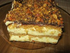 Miodowiec z puszystą masą budyniową Polish Recipes, Polish Food, Tiramisu, Food And Drink, Cooking Recipes, Cake, Sweet, Ethnic Recipes, Opera