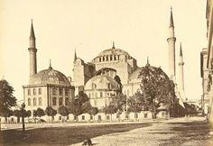 Ayasofya, İstanbul, Türkiye -1890-  (Hagia Sophia) #istanbul #history #turkey