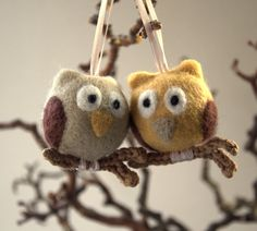 Hey, I found this really awesome Etsy listing at https://www.etsy.com/listing/120679073/2-felted-owls-on-crochet-or-wooden