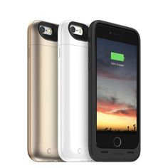 Mophie Launches New Juice Packs for iPhone 6 and iPhone 6 Plus - The only major difference between both packs is the capacity of the battery accompanying the case. The Juice Pack Air comes wit ha 2,750 mAh battery while the Juice Pack Plus boasts a bigger 3,300 mAh battery inside. Juice Pack Air doubles iPhone 6 battery while the Plus version offers even more power. | Geeky Gadgets