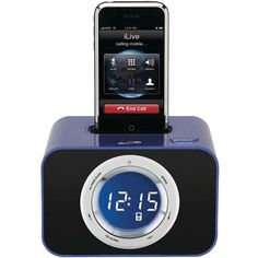 iLive AM/FM Clock Radio with iPod Dock