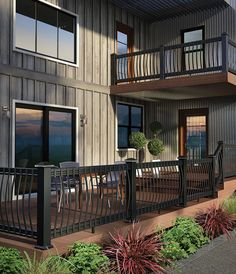 trex railings and balusters   composite level railing with aluminum balusters the deck and railing ...