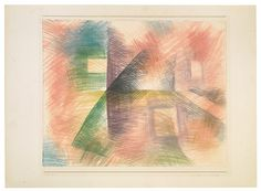 1929 Häuser am Kreuzweg by Paul Klee