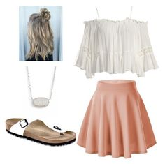 """""""Date Night"""" by riniu on Polyvore featuring beauty, Sans Souci, Birkenstock and Kendra Scott"""