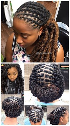 Classic Twist Braids have existed for decades but, due to innovation and variation upon the style, getting Twist Braids remains one of the most exciting and on-trend things that you can do with you… Dreadlock Styles, Dreads Styles, Dreadlock Hairstyles, Cool Hairstyles, Braided Hairstyles, Beautiful Dreadlocks, Dreads Girl, Hair Locks, My Hairstyle