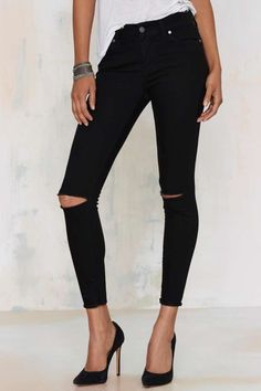 Aline High-Waisted Cropped Skinny Jeans | Shop Clothes at Nasty Gal!