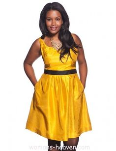 yellow dress fashion style moda clothes wear picture image http://www.womans-heaven.com/yellow-dress-23/