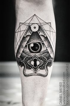 fuckyeahtattoos: Daniel Meyer Geometric Eye tattoo by Daniel Meyer via LEITBILD