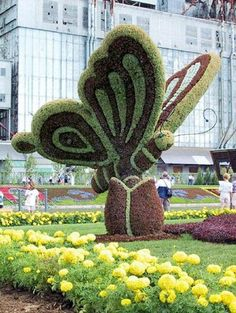 butterfly topiary art